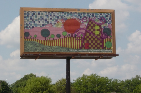 3. Upscaling July 2005 12 x 24 foot billboard